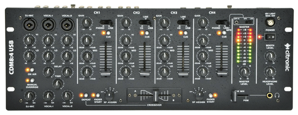 Top Down View Of A Citronic Cdm84 Mk6 Dj Mixer