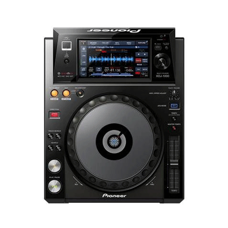 Top down view of a Pioneer DJ XDJ1000 Touch Screen USB DJ Controller which is top of the range DJ Equipment