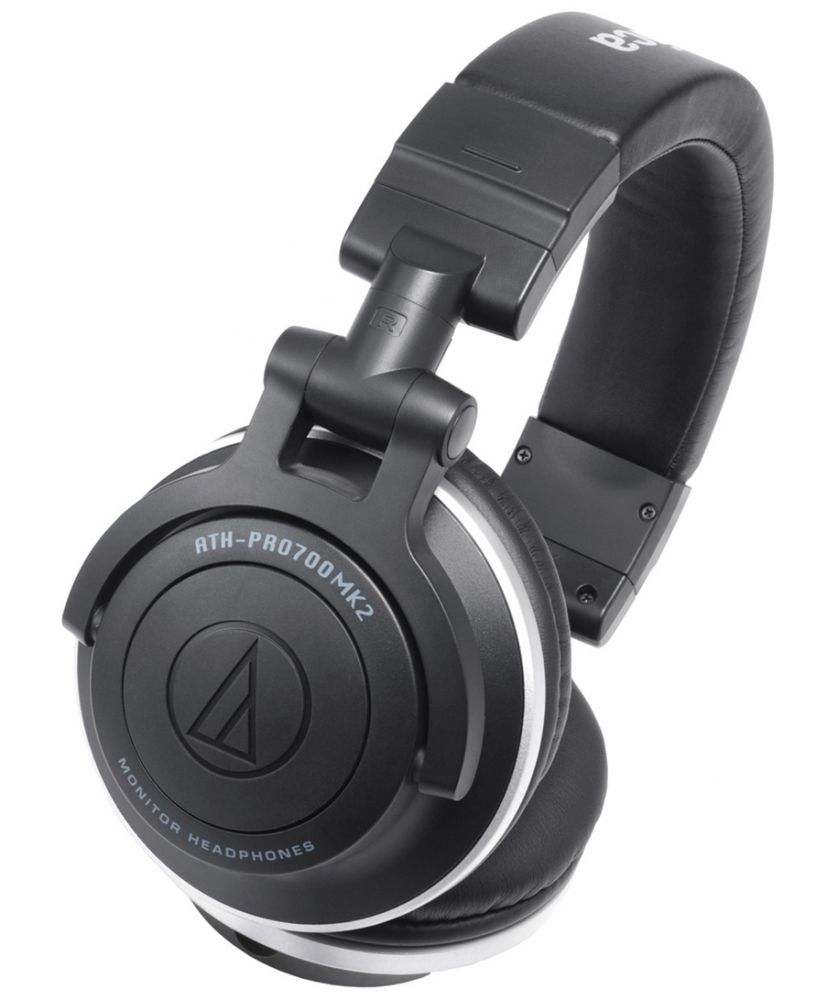 An angled view of the Audio Technica ATH-Pro 700 Mk2 Professional DJ Headphones