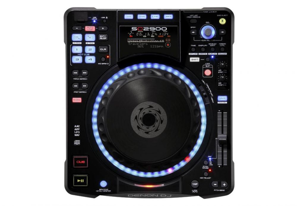 A top down view of a Denon SC2900 Digital DJ Controller and Media Player, one of Denons best DJ Controllers