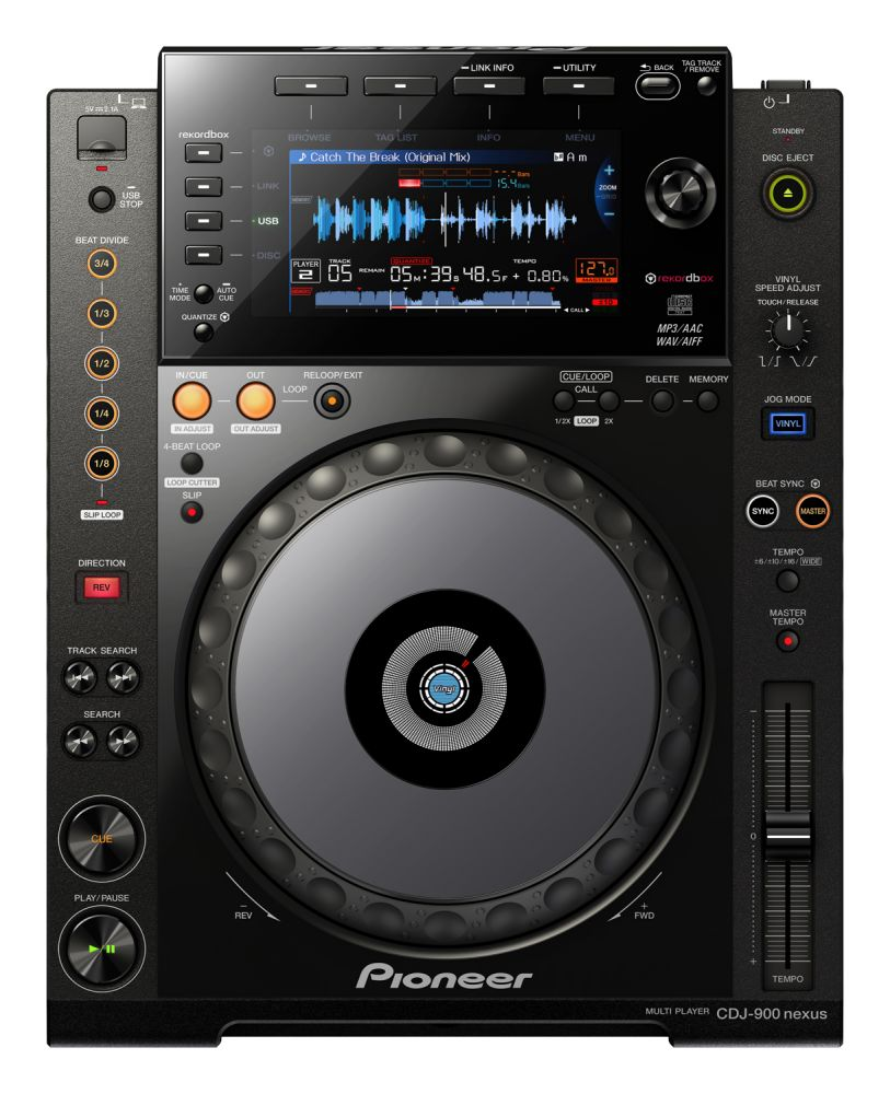 A top down view of a Pioneer CDJ-900 Nexus Professional DJ Multi-Player one of the most sought after DJ Controllers around