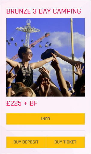 Creamfields fesitval Bronze 3 day camping ticket prices and info