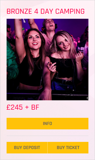 Creamfields festival Bronze 4 day camping ticket prices and info